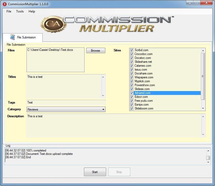 Commission multiplier in action