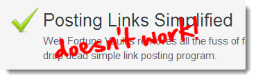 posting links doesn't work