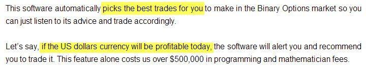 Picking trades