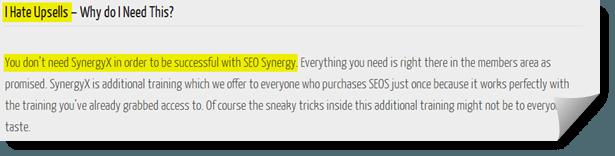 seo synergy upsell