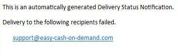 Delivery Status Failure