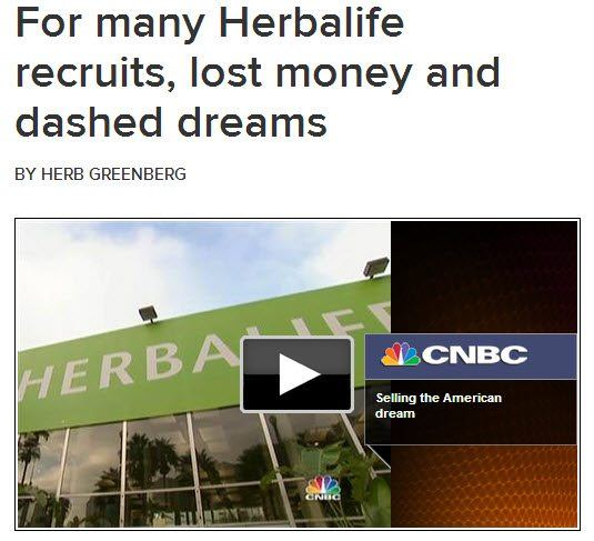News report on Herbalife