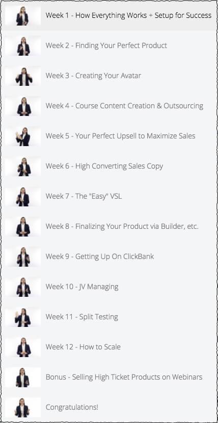 Clickbank University 2.0 Vendors Lesson List