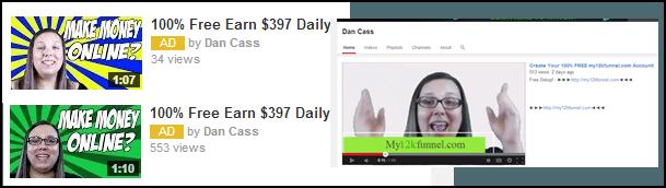 Dan Cass YouTube Ads
