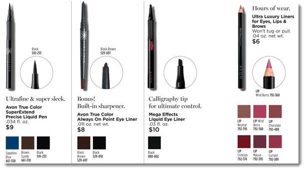Eyeliners from Avon