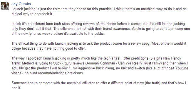 Jay Gums on Launch Jacking