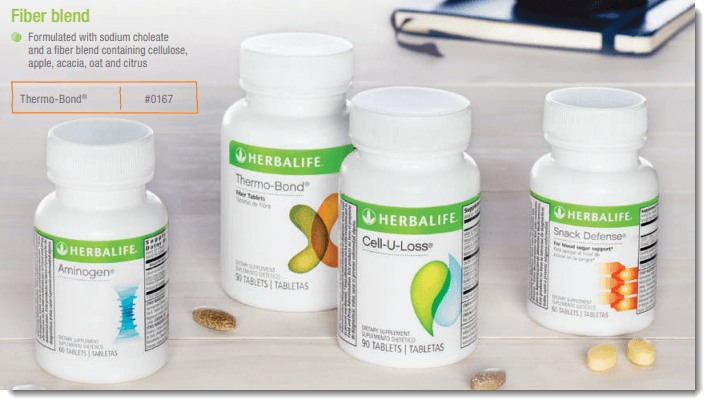 Four product bottles from Herbalife