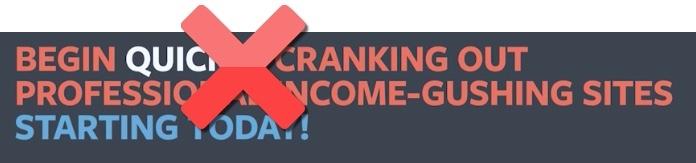 income gushing advertising