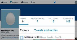 millionaire os social media