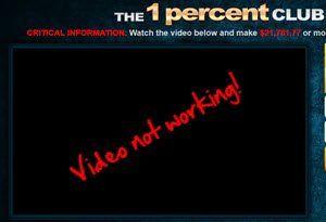 1 percent club video not working