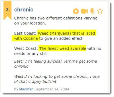 chronic meaning urban dictionary