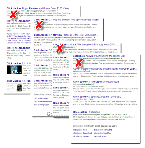 click jacker google SERPs