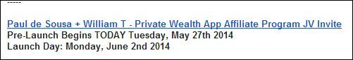 private wealth app jv