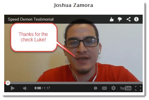 Joshua Zamora Testimonial