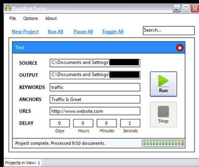 Backlinktopia Software