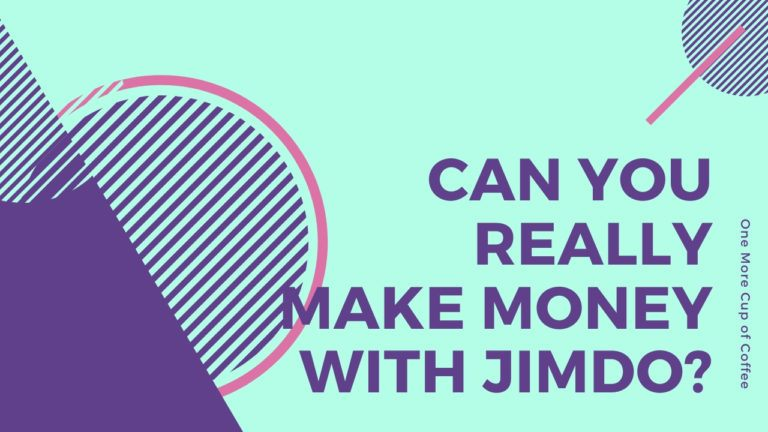 """blue & purple vector graphic with text """"can you really make money with Jimdo?"""""""