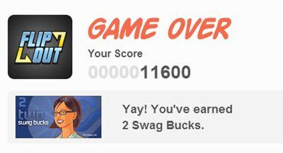 "swagbucks games example called ""flip out"". It's a puzzle game"