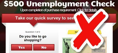 unemployment check