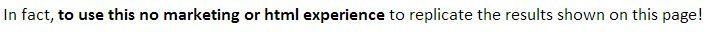 Marketing Experience