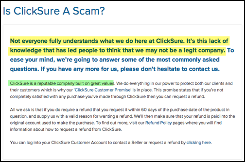 clicksure scam