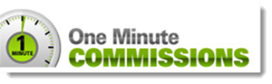one minute commissions logo