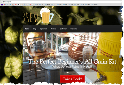 sample niche site brew7
