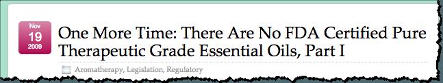 theraputic grade essential oils