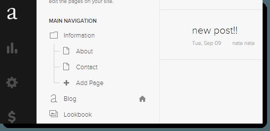 Squarespace blogging feature