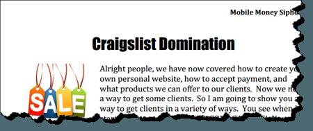 craigslist domination