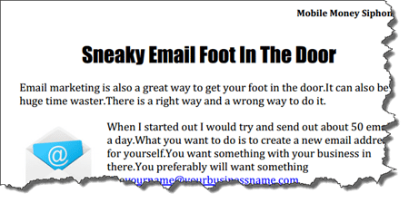 sneaky email