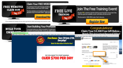free cash upsells