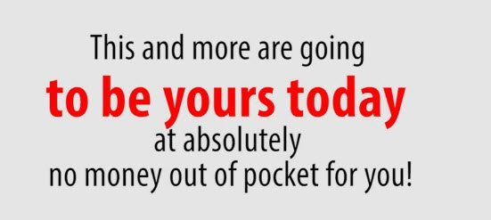 No money out of pocket