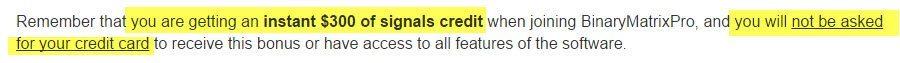 Signals credit