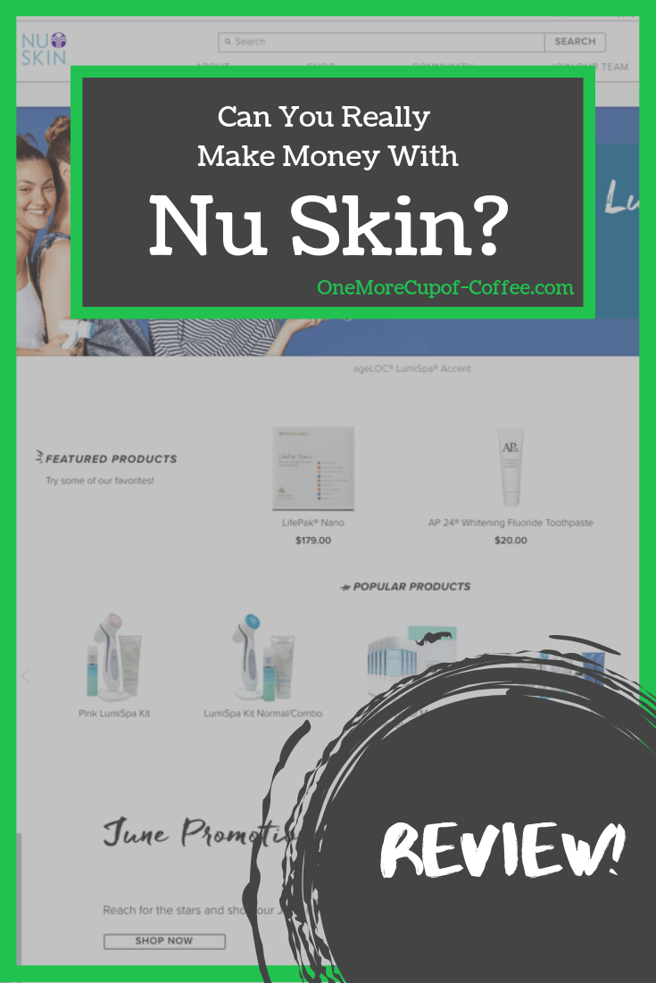 """screenshot of nu skin website with phrase """"can you really make money with Nu Skin?"""""""