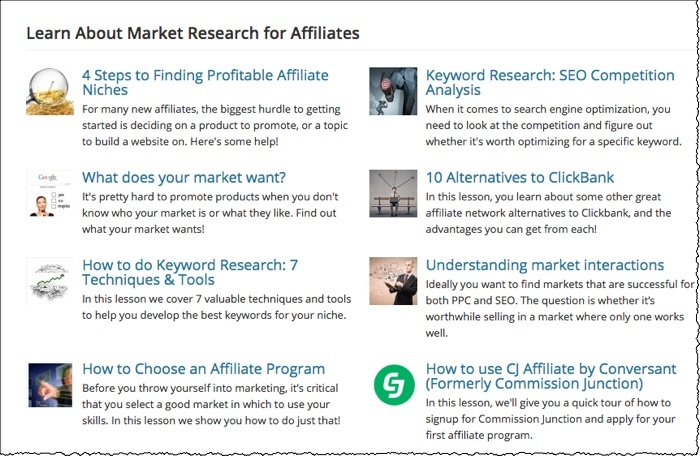 affilorama lesson titles and summaries