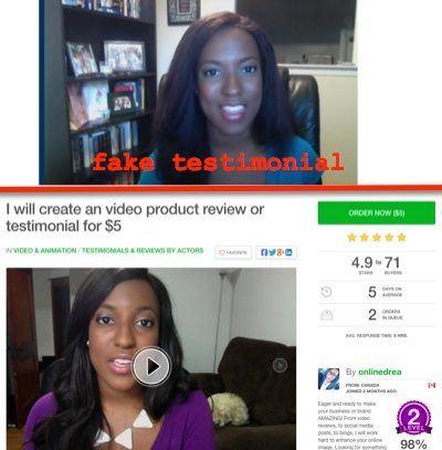 ibb fake testimonial