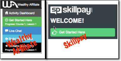 wealthy affiliate skillpay get started2