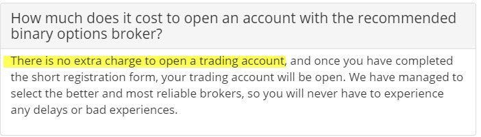 Cost to Open an Account