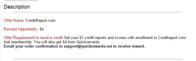 Credit Report Offer