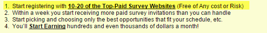 Survey Monster Claims