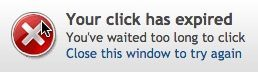 click expired