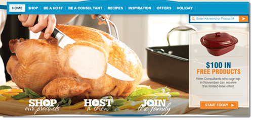 pampered chef homepage
