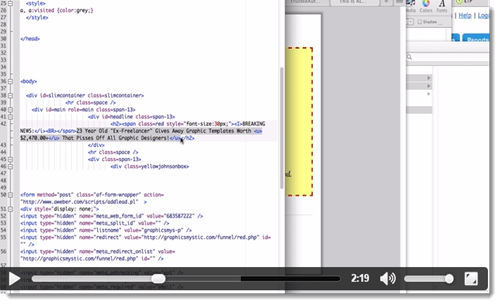 template code