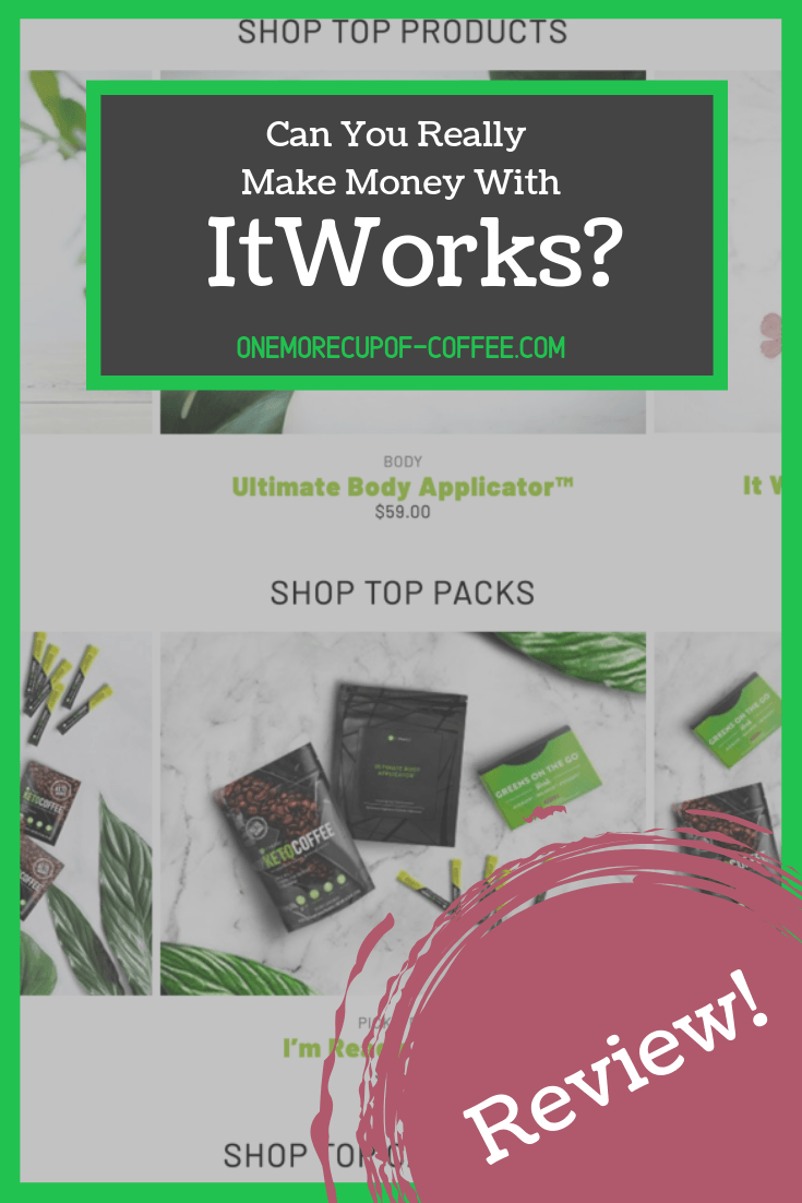 screenshot of the itworks home page with itworks products and the text title