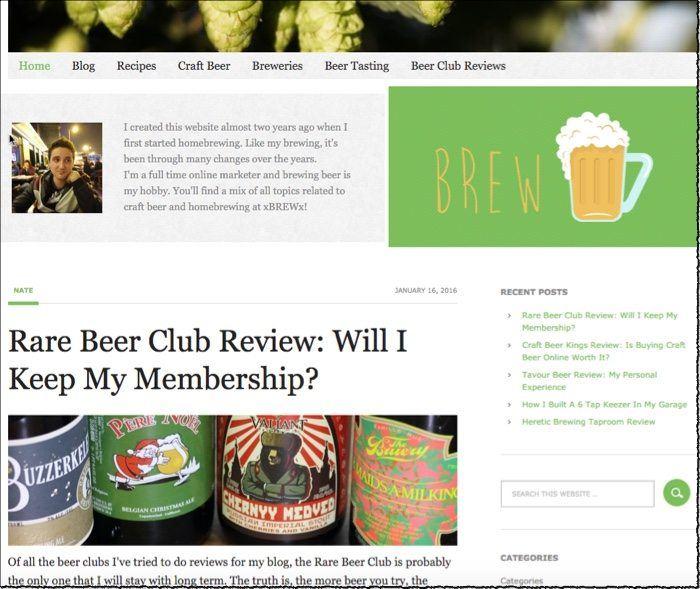 xbrewx niche website