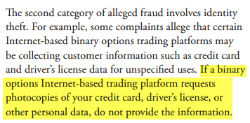 Fraud and Binary Options