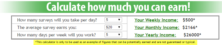 Calculate How Much You Can Earn!