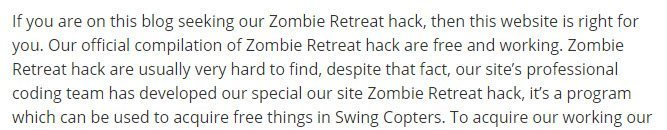 Content From Zombie Retreat Hack