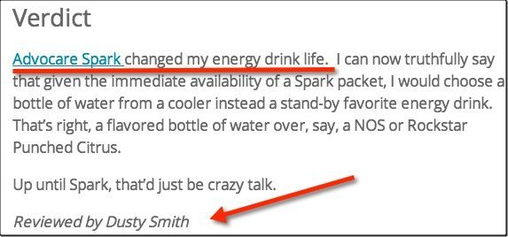 dusty smith advocare spark review