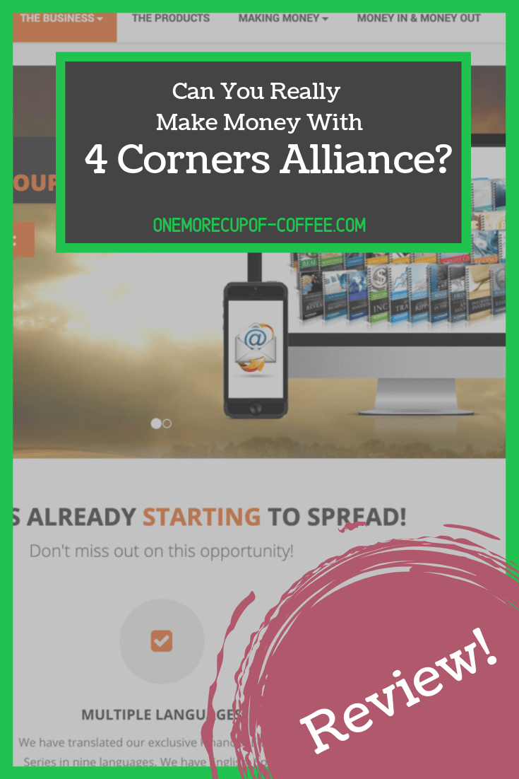 "screenshot of 4 corners alliance group website with heading that says ""can you really make money with 4 corners alliance group"""